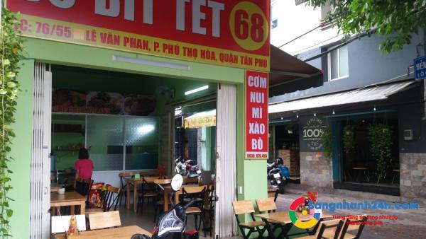 Cần sang nhanh quán bò bít tết tại 76/55 Lê Văn Phan, phường Phú Thọ Hòa, quận Tân Phú.