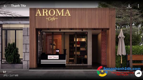 Sang nhanh quán cafe Aroma nằm mặt tiền đường Chu Văn An, phường 12, quận Bình Thạnh.